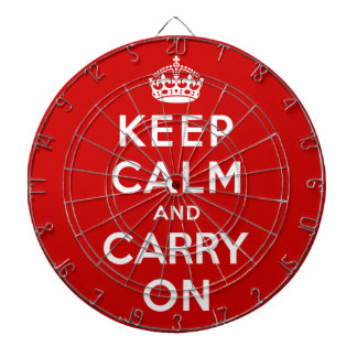 Keep Calm and Carry On Dart Board