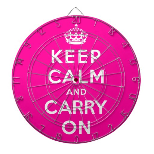 Keep Calm and Carry On Dartboards