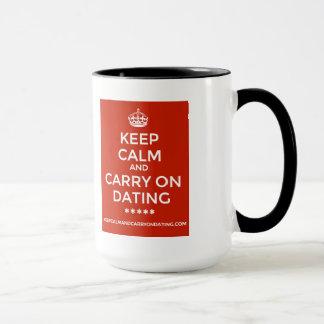 KEEP CALM AND CARRY ON DATING MUG