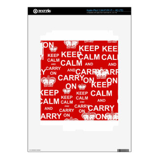 Keep Calm and Carry On Decal For iPad 3