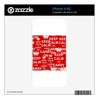 Keep Calm and Carry On Decals For The iPhone 4S
