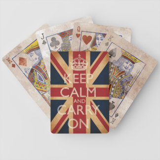 Keep Calm And Carry On Distressed Edition Bicycle Playing Cards