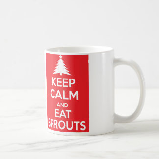Keep calm and carry on eat sprouts Christmas mug