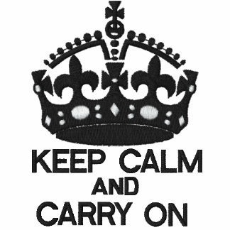 KEEP CALM AND CARRY ON embroidered APPAREL Polos