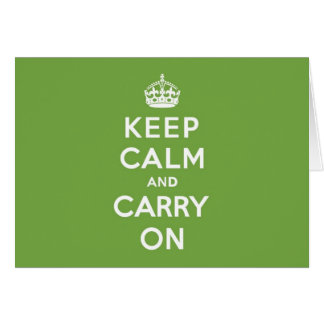 Keep Calm and Carry On Emerald Green Card