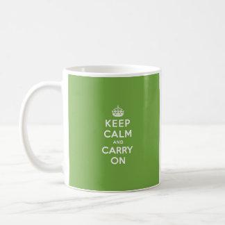 Keep Calm and Carry On Emerald Green Coffee Mug