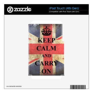 keep calm and carry on england skins for iPod touch 4G
