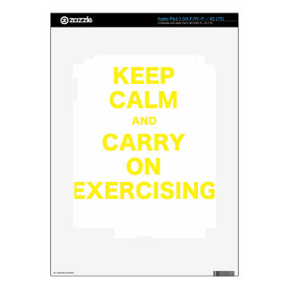 Keep Calm and Carry On Exercising Skins For iPad 3