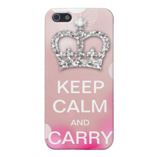 Keep Calm and Carry On Fashion Crown Sparkle iPhone SE/5/5s Cover
