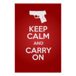 Keep Calm and Carry On Firearms M&P9c Poster