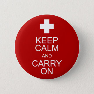 Keep Calm and Carry On - First Aid Pinback Button
