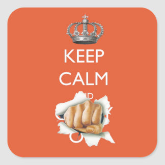 Keep Calm and Carry On - Fist Sticker