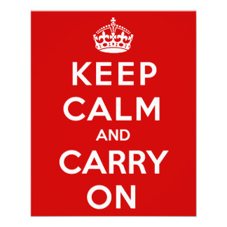 Keep Calm and Carry On Flyer