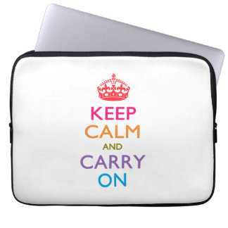 KEEP CALM AND CARRY ON Fruity Colors Laptop Sleeves