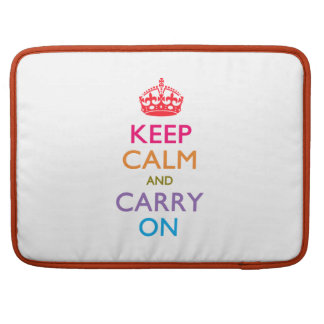 KEEP CALM AND CARRY ON Fruity Colors Sleeve For MacBooks