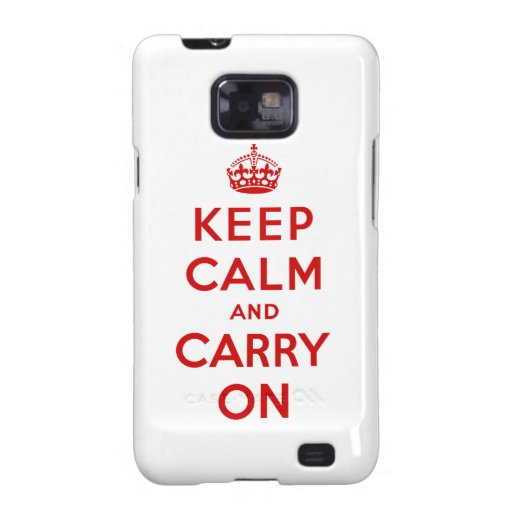 Keep Calm and Carry On Galaxy S2 Cover