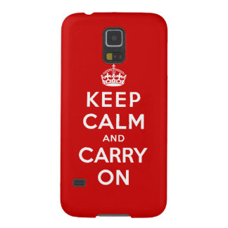 Keep Calm and Carry On Galaxy S5 Cover
