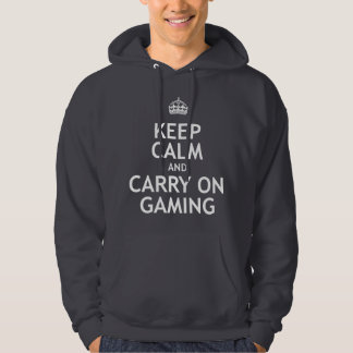 Keep Calm and Carry On Gaming Hooded Pullovers