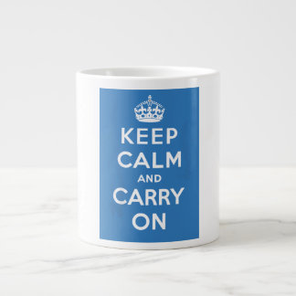 Keep Calm and Carry On Giant Coffee Mug