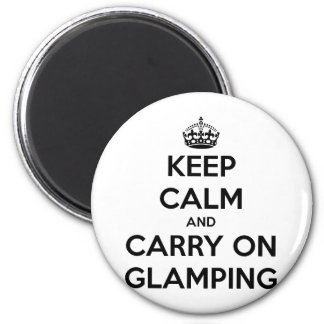 Keep calm and carry on glampling 2 inch round magnet