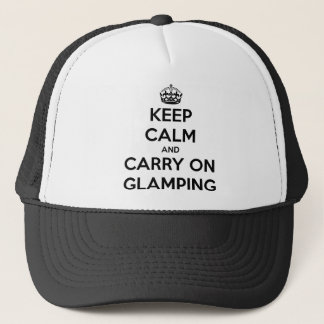 Keep calm and carry on glampling trucker hat