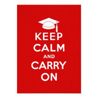 Keep Calm and Carry On Graduation Custom Invitation