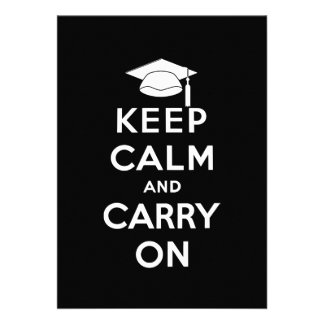 Keep Calm and Carry On Graduation Personalized Announcements