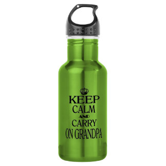 Keep Calm and Carry On Grandpa Stainless Steel Water Bottle