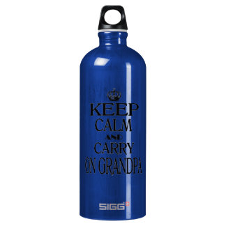 Keep Calm and Carry On Grandpa Water Bottle