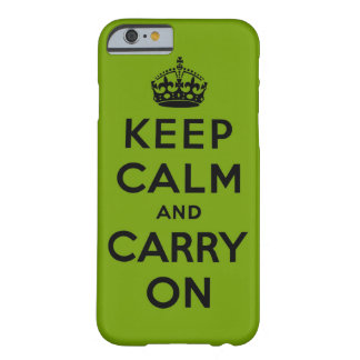 keep calm and carry on - green and black barely there iPhone 6 case