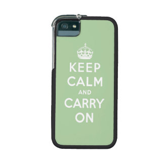 keep calm and carry on - green and white cover for iPhone 5