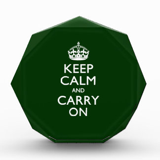 KEEP CALM AND CARRY ON Green Award