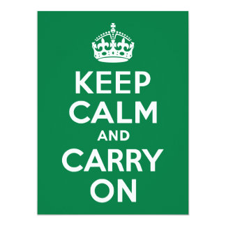 Keep Calm and Carry On Green Card