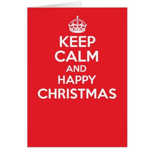 Keep calm and carry on greetings card - CHRISTMAS
