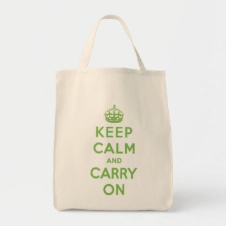 Keep Calm and Carry On Grocery Bag