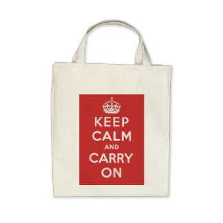 Keep Calm and Carry On Grocery Tote Tote Bag