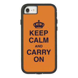 KEEP CALM AND CARRY ON GRUNGY Orange Case-Mate Tough Extreme iPhone 8/7 Case