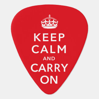 Keep Calm and Carry On Guitar Pick