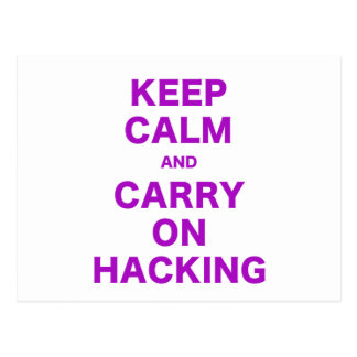Keep Calm and Carry On Hacking Postcards