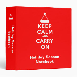 Keep Calm and Carry On Holidays Binder