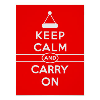 Keep Calm and Carry On Holidays Poster