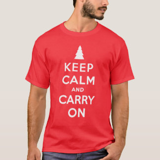Keep Calm and Carry On Holidays T-Shirt