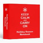 Keep Calm and Carry On Holidays Vinyl Binders