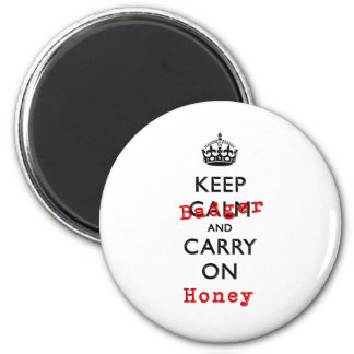 Keep Calm and Carry On Honey Badger Magnet
