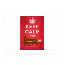 Keep Calm and Carry On Honey Badger Postcard