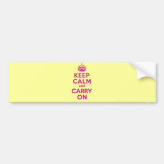 Keep Calm And Carry On Hot Pink Best Price Bumper Sticker