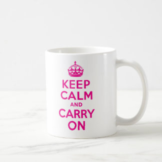 Keep Calm And Carry On Hot Pink Best Price Coffee Mug