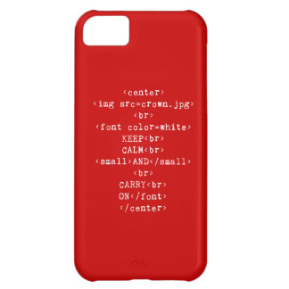 Keep Calm and Carry On html (in any color) iPhone 5C Cover