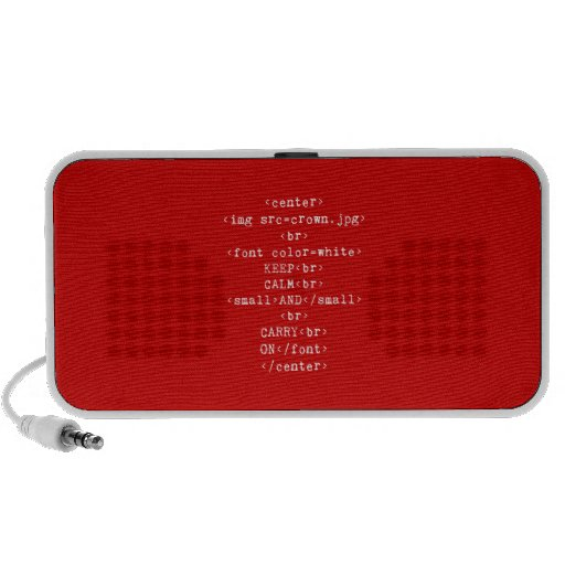 Keep Calm and Carry On html (in any color) iPhone Speaker