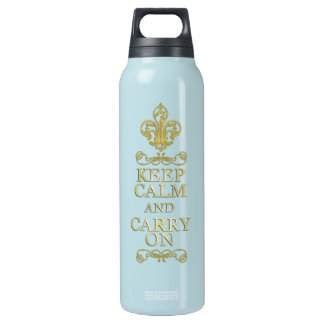 Keep Calm and Carry On Insulated Water Bottle